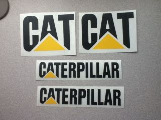 caterpillar 4 piece set vinyl decals  12