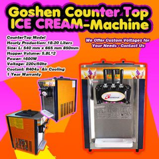 Direct Commercial Countertop Goshen Ice Cream Machine 220v 50hz