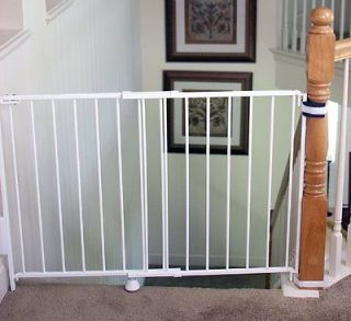 regalo top of stair gate white safety gate baby pet