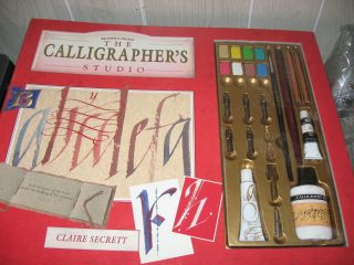 CALLIGRAPHERS STUDIO READERS DIGEST CALLIGRAPHY PEN SET NEW IN PKG