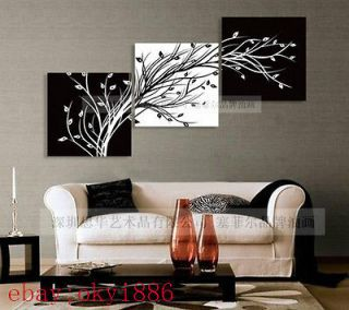 3pc MODERN MODERN ABSTRACT HUGE WALL ART OIL PAINTING ON CANVAS (no