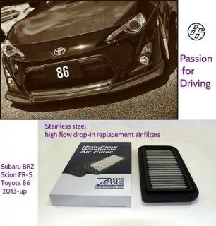 2013 86 Scion FRS Subaru BRZ High Flow Stainless Steel Drop in Air