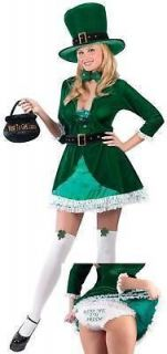 ladies st patrick irish leprechaun fancy dress costume from united