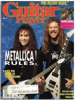 Guitar Player Magazine (April 1989) Metallica / Johnny Shines / Steve
