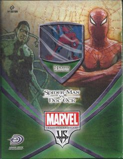 VS System CCG Spider Man Vs. Doc Ock Sealed 2 Player Starter Deck