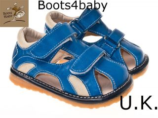 Childrens Infant Toddler Leather Squeaky Shoe Summer Sandals Bertie