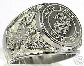 men s stainless steel marine corps ring sz 15 new