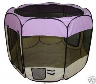 purple pet dog cat tent puppy playpen exercise pen l