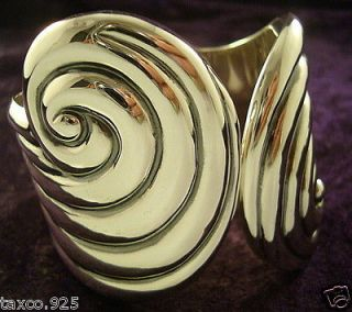 VINTAGE TAXCO MEXICAN STERLING SILVER CLAMPER BRACELET