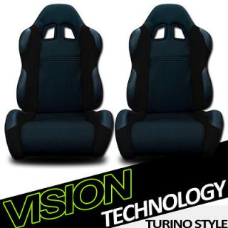 Fabric & PVC Leather Reclinable Racing Seats+Sliders 26 (Fits Summit