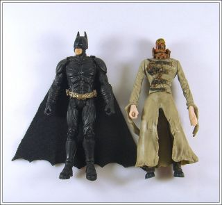2pc DC Universe Batman & Scarecrow 3.75 Super Hero Figures Loose Toy