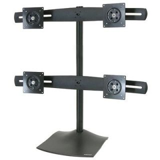 Ergotron DS100 Quad Monitor Desk Stand   Up to 124lb   Up to 24 in