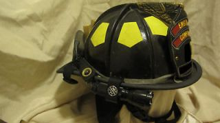 firefighter helmet light and mounting bracket fire
