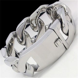 mens stainless steel bracelet heavy in Stainless Steel