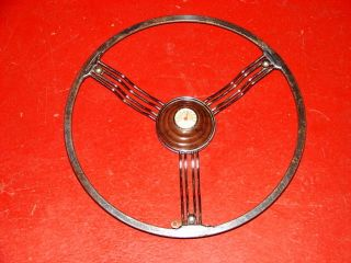 30S 40S VINTAGE BANJO STEERING WHEEL ACCESSORY THERMOMETER STREET ROD