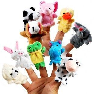 New Soft Animal Puppet Baby Infant Kid Finger Toy PLush Toys Free Ship
