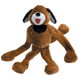 tug and squeak Brown Dog Soft Plush Dog Puppy toy Six Squeakers inside