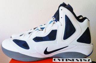 Nike Zoom Hyperfuse 2011 White Navy Blue Hyperdunk+ Men Shoe 2012