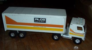 Vintage Ertl Semi Truck and Trailer Toy International Alco