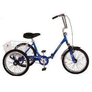 Westport Adult Tricycle   Wide Folding Bike, 3 Wheel Bicycle, Exercise