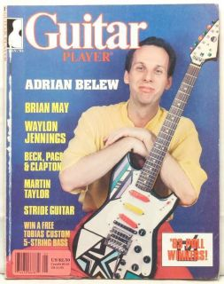 Guitar Player Magazine Adrian Belew Brian May Waylon Jennings Beck