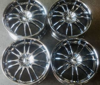 CHEVROLET HHR 20 AFTERMARKET CHROME WHEELS RIMS   HELO HE845