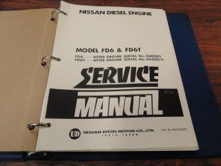Nissan UD FD6 FD6T Diesel Engine Service Manual NEW SMEFDS2EO