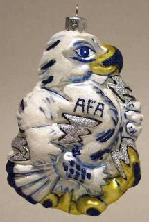 pattern glasscot ornament piece air force academy falcons figure size