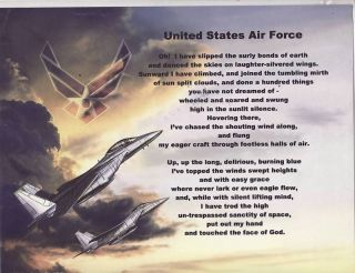 United States Air Force Poem Prayer Personalized Name