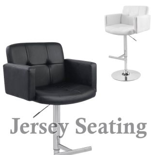 New Leather Air Lift Swivel Counter Adjustable Bar Stool Counter Chair