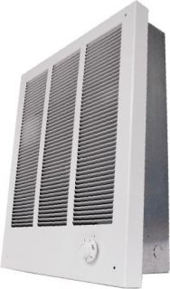 New 4000 w Electric Wall Vent Space Heater Low Profile 208 V White 13