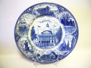 Alfred Meakin Olde English Plate  Massachusetts