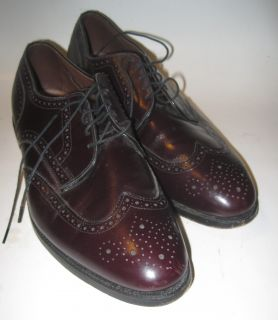 Cordovan Allen Edmonds Concord Wingtip Laceup Shoes 13 D