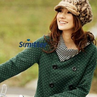 New Korean Fashion Womens Autum Grid Knitting Top Long Coat Jacket