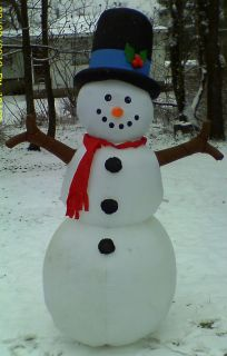 GEMMY AIRBLOWN INFLATABLE 8FT TRADITIONAL SNOWMAN PROTOTYPE CHRISTMAS
