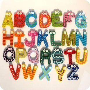 Alphabet Wooden Magnets Educational Toy Favours MAG001