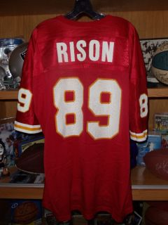 Andre Rison Kansas City Chiefs Vtg Champion Jersey 52