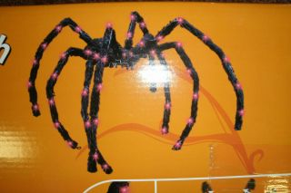 Animated Halloween Prop Props Lighted Spider Decoration