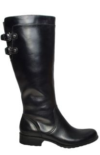 Anne Klein Womens Boots Keera Black Leather Sz 9 5 M