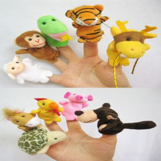 New 10x Animal Finger Puppets Baby Toys Plush Toys S46