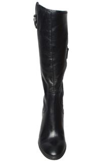 Anne Klein Womens Boots Brenton Black Leather Sz 7 M