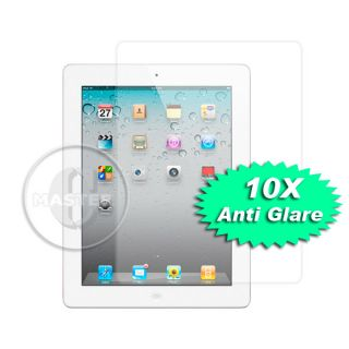 10x iPad 2 II Anti Glare Fingerprint Mat Clear Front LCD Screen