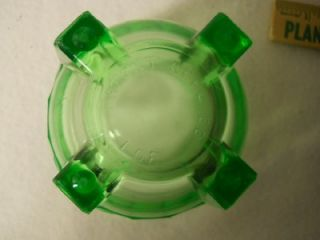 Antique Vintage Green Depression Glass Measuring Cup Beater Cup