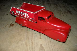 antique toy tin dump truck
