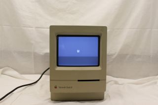 Vintage Apple Macintosh Classic Computer II Powers On M4150