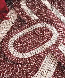 Braided Accent Runner Area Rug Burgundy Blue or Taupe