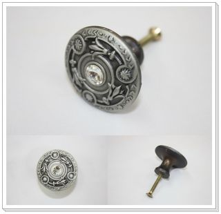 Antique Pewter Vintage Furniture Dresser Wardrobe Cabinet Drawer Pulls