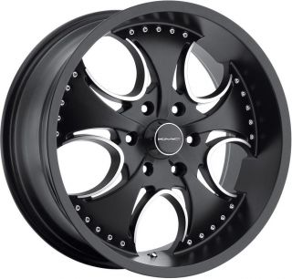24 KMC Venom Wheels Rims Dodge Dakota Durango RAM 1500