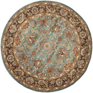 Hand Tufted Heritage Blue Brown Wool Carpet Area Rug 8Round