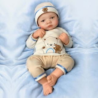 Ashton Drake Bearly Asleep Sweet Dreams Baby Boy 19 Doll